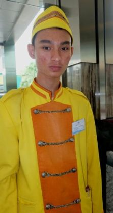 Mr. Alvin Adam, Trainee belboy, FM7 Resort Hotel, Tangerang