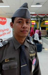 Mr. Hamza, Customs officer, Jakarta airport