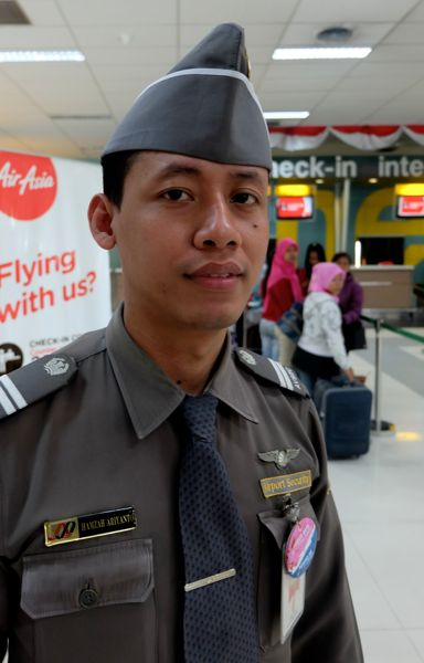 Mr. Hamza, Customs officer, Jakarta airport