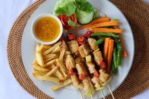 Ikan goreng, Fish kebab, Sidemen, Bali