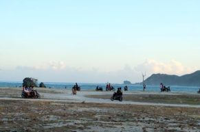 Kuta, Lombok, Scene out of Mad Max