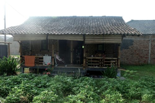 Our bamboo lodge.