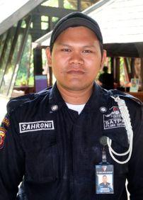 Mr. Sahroni, Security guard, Novotel Bogor