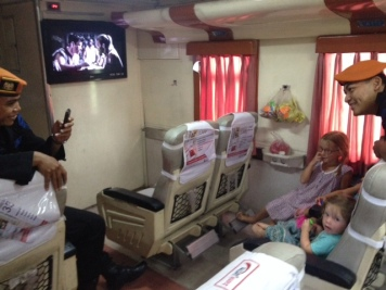 Six hour train ride to Surabaya
