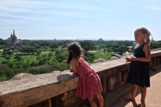 On top of one of the three hindu shrines.