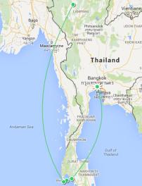 Eerste dagen: Bangkok - Krabi - Ko Yao Yai - Phuket - Chiang Mai
