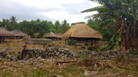 On the road, houses without electricity or water